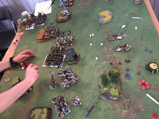 manouvering for second charge