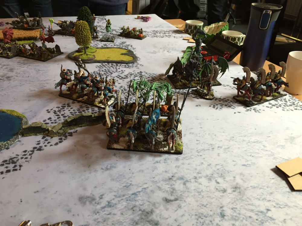 right flank delay
