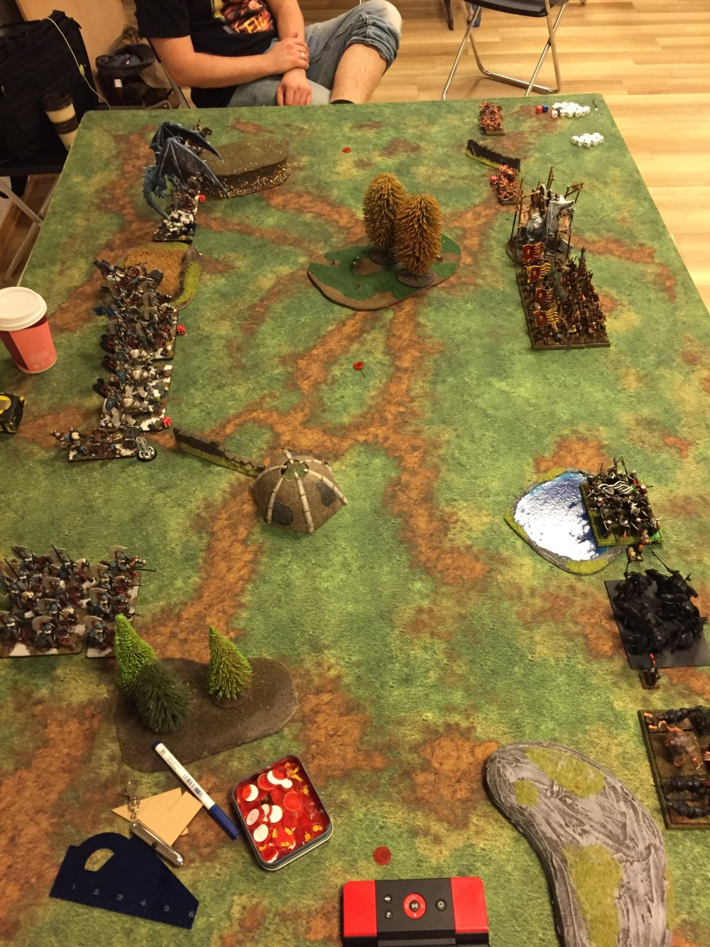game 2 vs undead deployment