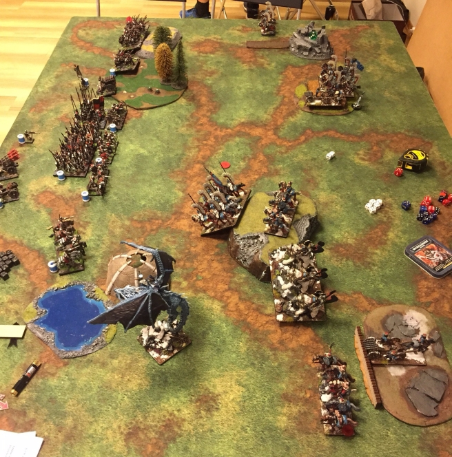 kislev army vs ostland army turn 1