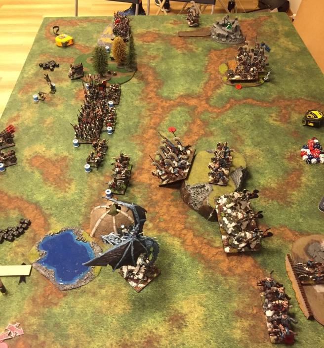 kislev army vs ostland army turn 1 bottom