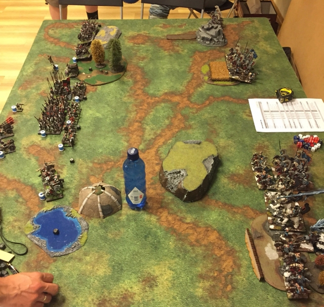 kislev army vs ostland army deployment