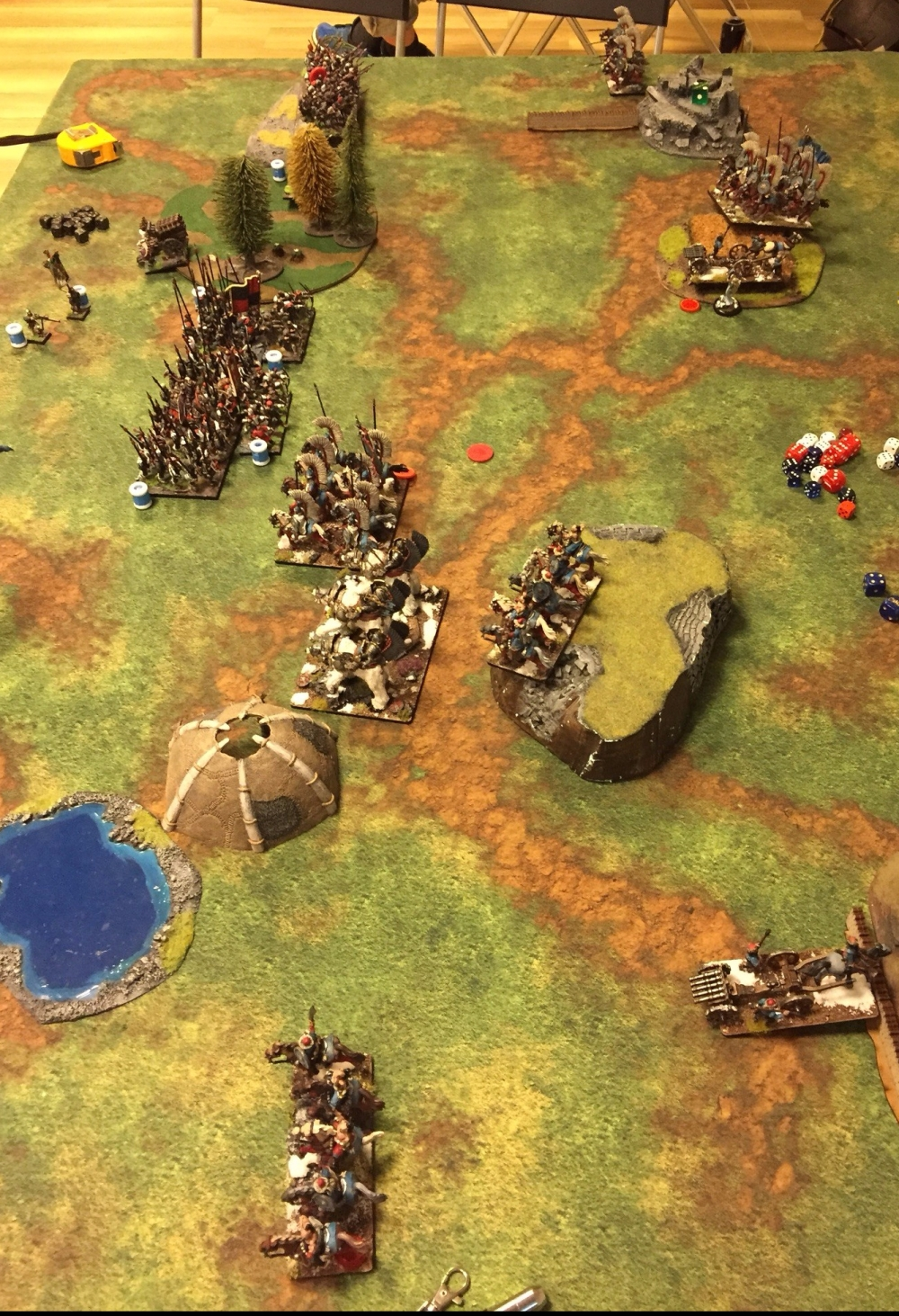 kislev army vs ostland army turn 2