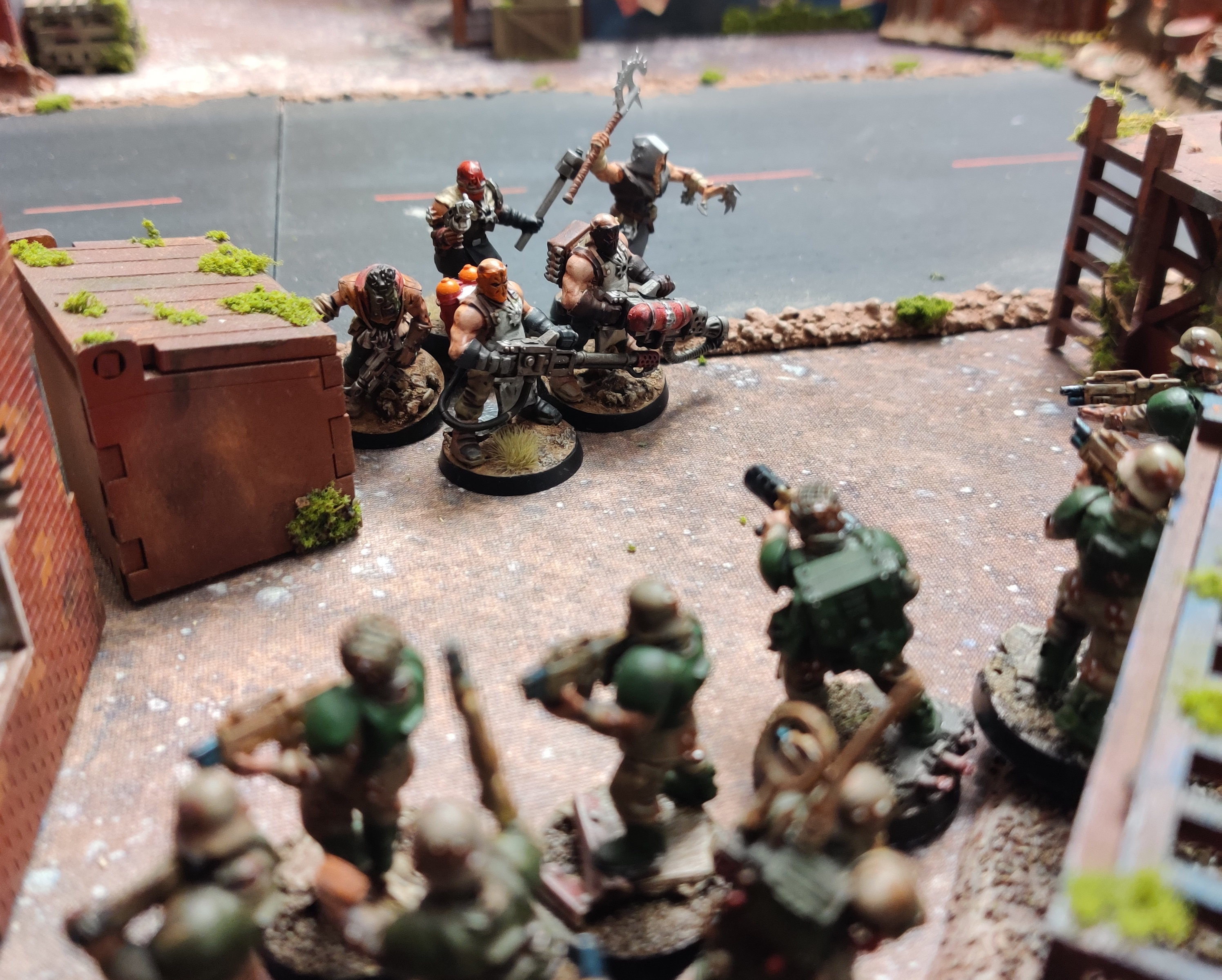 2nd squad engaging insurgents